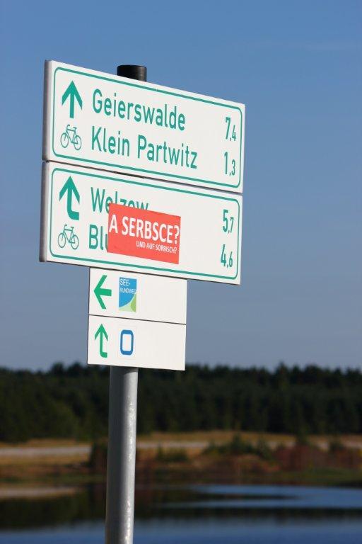 Geierswalde, Kleinpartwitz, a serbsce?